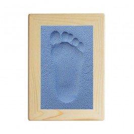 Kit d'empreinte bébé cadre rectangulaire - bleu
