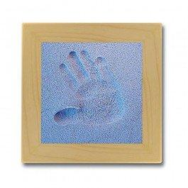 Kit d'empreinte bébé cadre carré - bleu
