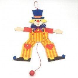 Pantin articulé Bozo le clown 30 cm