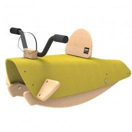 Bascule en bois Moto verte