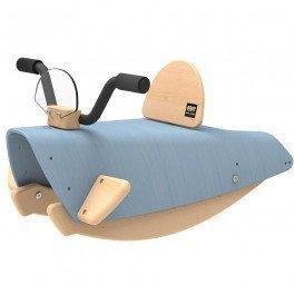 Bascule en bois Moto bleue