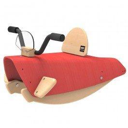 Bascule en bois Moto rouge