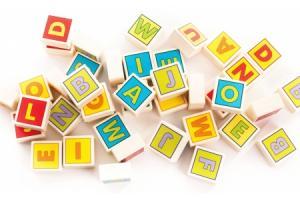 Cubes Lettres en bois 40 carrés