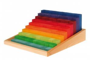 100 Blocs de calcul en bois Escalier à compter