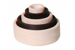 Boîtes gigognes rondes Monochrome