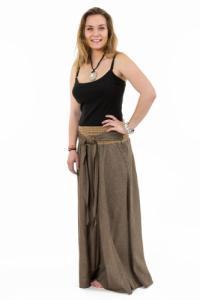 Jupe ethnique longue ceinture elastique et boucle coco Narivala