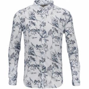 Poplin Shirt Bird Print Bright White