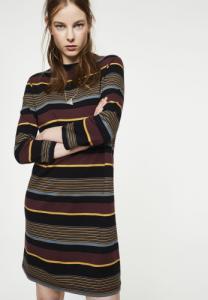 Cecilie Mulitcolor Stripes Dark Bordeaux