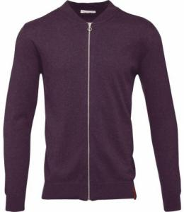 Cotton Cashmere Cardigan Plum Perfect