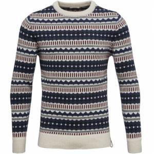 Jaquard Round Neck Knit Winter White