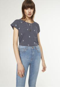 Liv Deers On Stripes Navy Off White