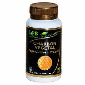 Charbon végétal Super activé et Propolis verte 240mg - 90 gélules