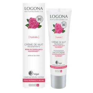 Crème de nuit régénérante Rose de Damas bio - Peaux sèches 30ml