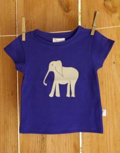 T-shirt manches courtes imprimé éléphant en coton bio