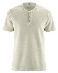T-shirt avec patte de boutonnage chanvre et coton bio