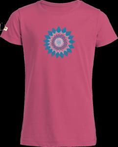 T-shirt col rond imprimé  Fleur  pour fille