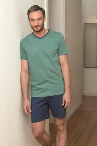 Pyjama court pour homme en coton bio