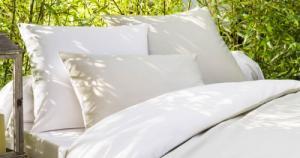 Drap housse en coton bio blanc-beige