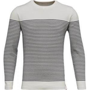Striped O-Neck Knit Star White