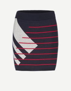 Beke Striped Chaos Navy Ribbon Red Light Grey