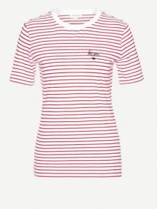 Lida Bisou On Stripes Ribbon Red White