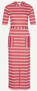 Tonia Watercolor Stripes M. Red Off White