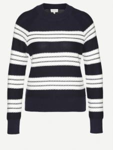 Midori Stripes Navy Off White