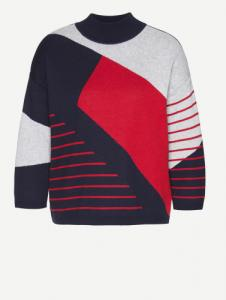 Agnes Striped Chaos Navy R. Red L. Grey