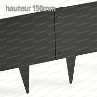 Bordurette métal acier 1m - français haut.150mm - Gris RAL 7022