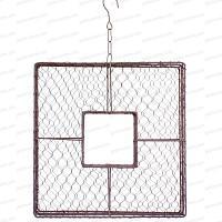 Cadre carré en grillage à poule 40x40cm