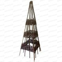 Pyramide Noisetier 150cm de haut tressée d'osier