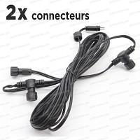 Cable Rallonge de 6m, 2 connecteurs basse tension 12V