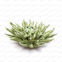 Fleur corail en céramique à poser - Vert