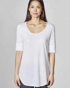 T-shirt léger bas arrondi