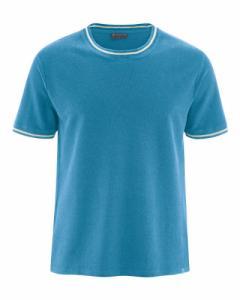 T-shirt en piqué de chanvre et coton bio