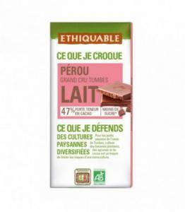 Chocolat au lait 47% Grand Cru Pérou bio - équitable