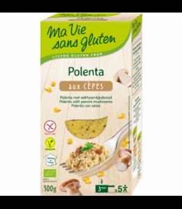 Polenta aux cèpes bio - sans gluten