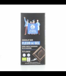 Chocolat noir bio - équitable à la fleur de sel