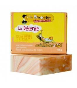 Savon 'La Détente Pamplemousse' au pamplemousse, géranium - huile de pépins de raisin 100% bio