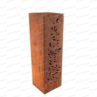 Colonne carrée Feuilles en métal 30x30xh.100cm