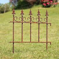 Bordure de jardin antique en métal rouillé Long. 66cm