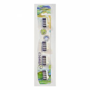 4 têtes de brosse à dents médium Nylon