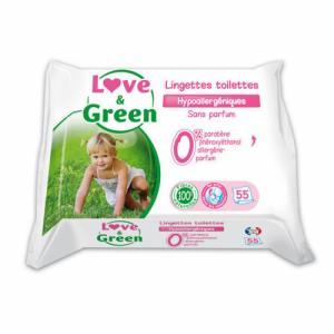 Love - Green Lingettes de toilettes