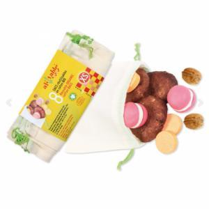 8 petits sacs à vrac en coton bio