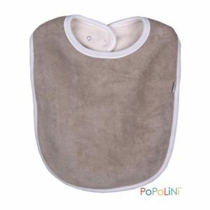 Popolini Bavoir coton gris 6 à 36 mois