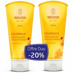 Duo Crème lavante Corps et Cheveux Bébé au Calendula