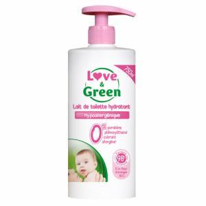 Lait de Toilette hypoallergénique 750ml Love - Green