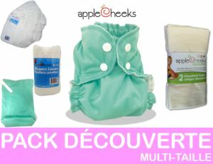 PACK DECOUVERTE couches lavables multi-taille