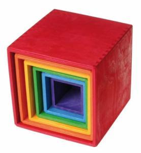 Grand ensemble de boîtes colorées