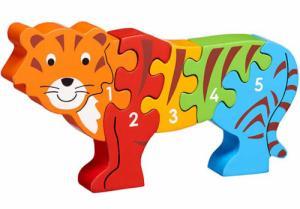 Puzzle en bois Tigre Chiffres 1-5